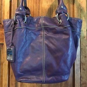Tiganello PURPLE leather purse in great shape.